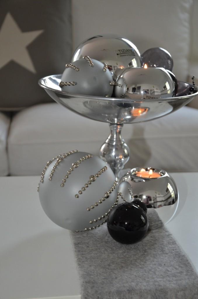Weihnachtsdeko In Silber Stilvolle Eleganz Tiziano Design