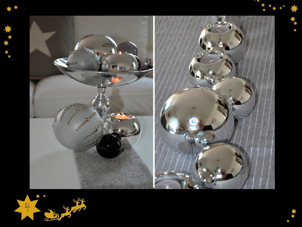 Weihnachtsdeko in silber stilvolle eleganz tiziano design for Weihnachtsdeko design