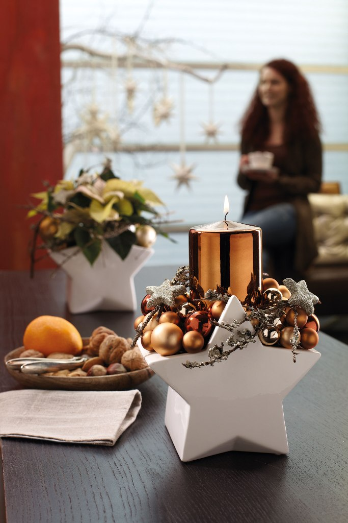 sternenzauber dekoideen f r weihnachten tiziano design. Black Bedroom Furniture Sets. Home Design Ideas